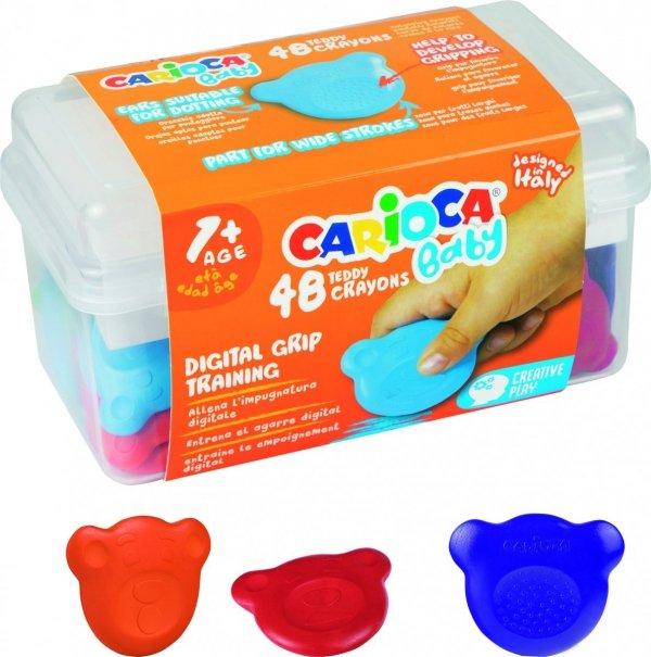 Kredki Misiaki BABY dla dzieci 1+ CARIOCA kuferek 48 szt. (42958)