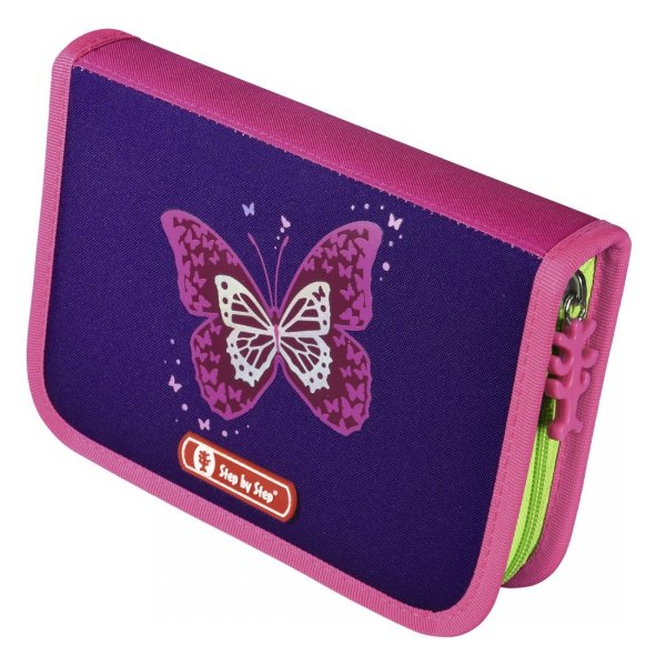 Zestaw 4 el. Tornister Step by Step LIGHT II SHINY BUTTERFLY, Hama (138961)