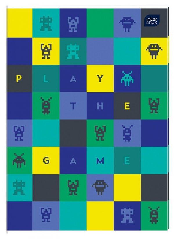 Zeszyt A4 w kolorową linię 32 kartki MIX CHŁOPIĘCY (58892)