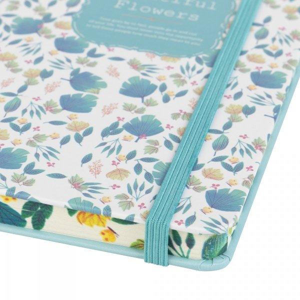 Notes na gumkę A7 Beautiful Flowers Zielony (925026)