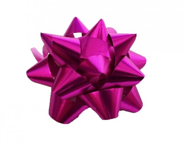 Rozetka wstążka do pakowania prezentów RÓŻOWA 5 cm