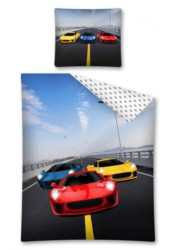 Komplet pościeli pościel RACING CARS 160 x 200 cm (2721)
