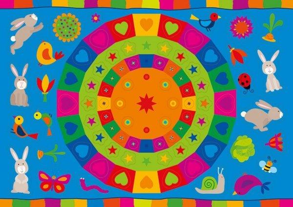 Kolorowanka z naklejkami OPOWIEŚCI O ZWIERZĘTACH ZAJĄC USZAK 3+ (43324)