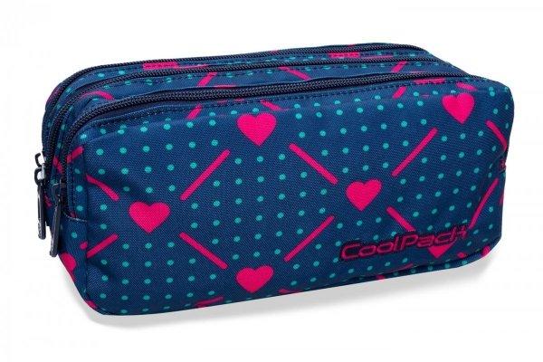 Piórnik CoolPack PRIMUS saszetka trzykomorowa połączenie serc, HEART LINK (B60009)
