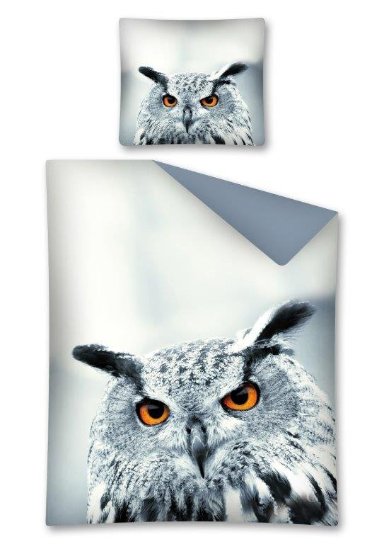 Komplet pościeli pościel 160 x 200 cm WILD ANIMALS, Sowa (2441A)