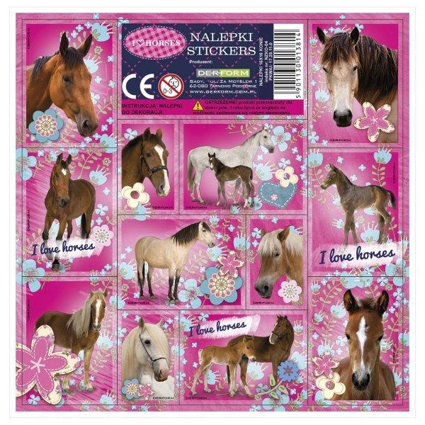 Nalepki ozdobne I Love Horses KONIE (NZKO)
