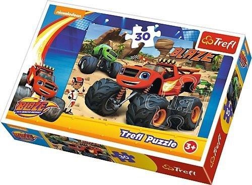 TREFL Puzzle 30 el. Blaze i Mega Maszyny, W akcji (18222)