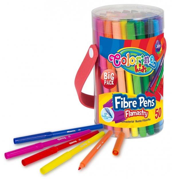 Flamastry 50 sztuk COLORINO KIDS w pudełku z rączką (34708PTR)