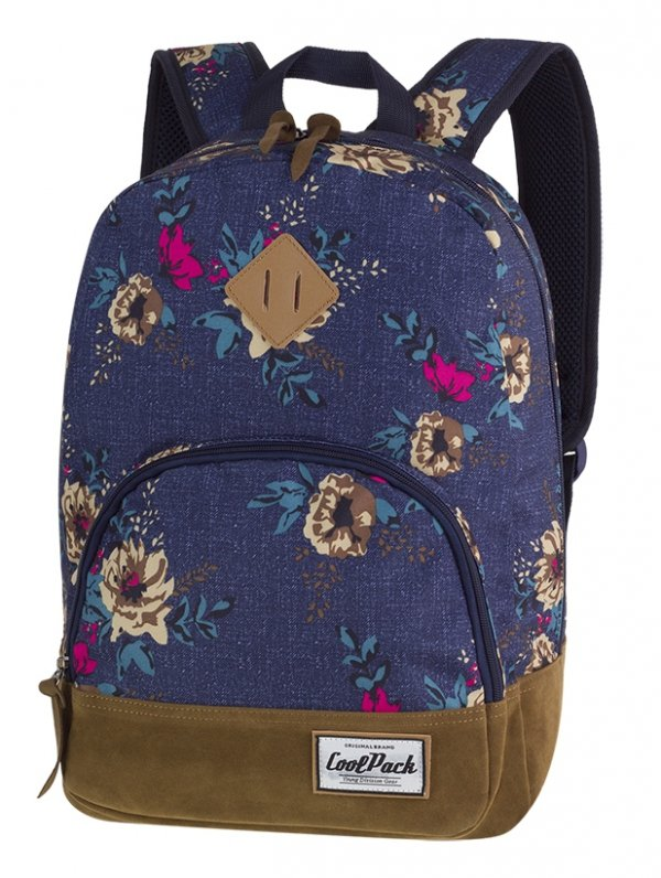 Plecak CoolPack CLASSIC miejski młodzieżowy kwiaty na dżinsowym tle, BLUE DENIM FLOWERS (12379CP)