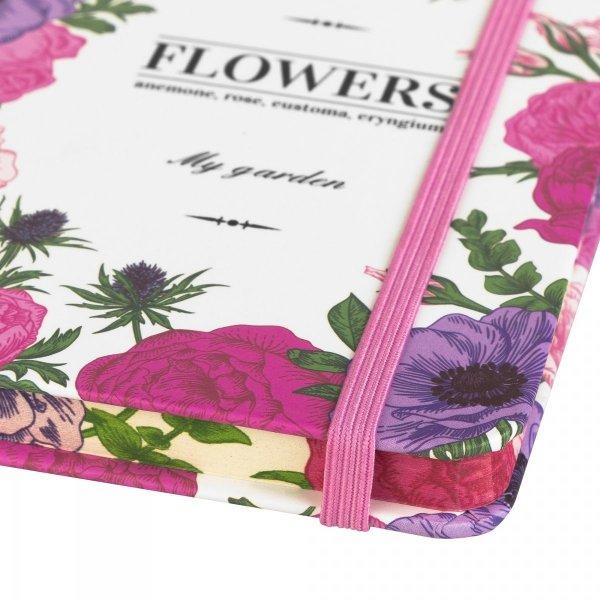 Notes na gumkę A6 FLOWERS różowy (925013)