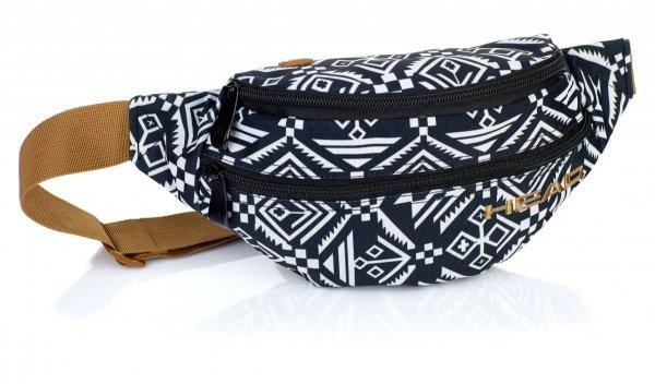 SASZETKA NERKA HEAD na pas torba białe i czarne wzory AZTEC (506018036)
