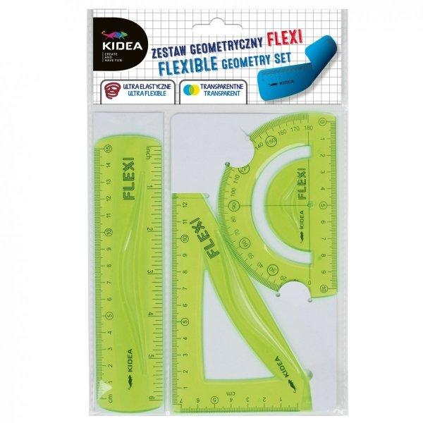 Zestaw geometryczny 3 elementy 15 cm Flexi  KIDEA (ZGF15CMKA)
