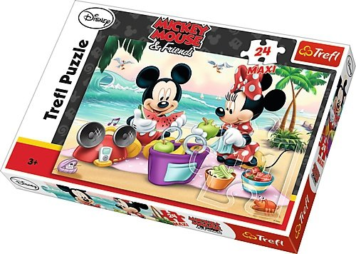 TREFL Puzzle MAXI 24 el. MYSZKA MICKEY I MINNIE Piknik na plaży (14236)