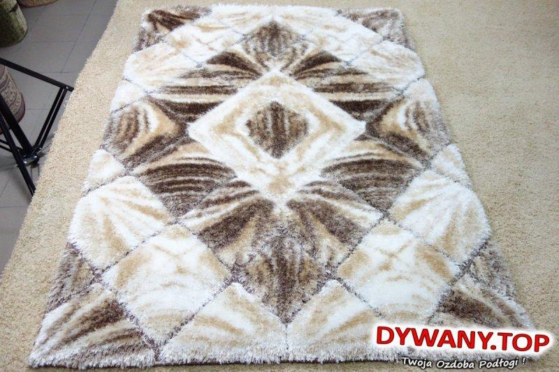 SOFTY 3D WHITE-BROWN biało-brązowy