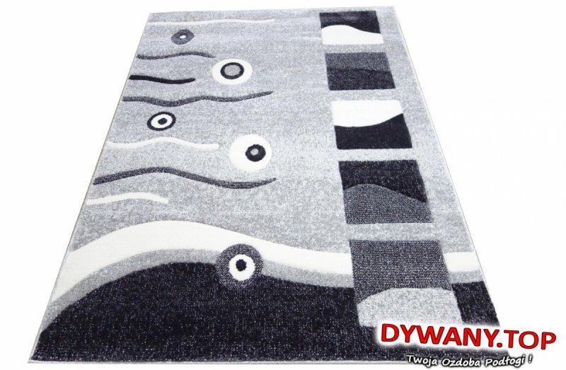 Nowoczesny dywan szaro-grafitowy w abstrakcyjny wzór