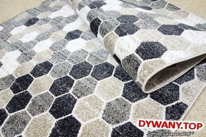 LAGOS beige beżowo - szare geometryczny