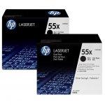 HP oryginalny toner CE255XD, black, 12500s, HP 55X, HP Enterprise P3015, LaserJet Pro 500 MFP M521dn, Dual pack, 2szt