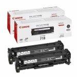 Oryginalny, kompatybilny Zestaw dwóch tonerów  Canon  CRGP718BK do LBP-7200 | korp |2x 3 400 str. | black