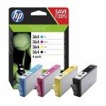 Zestaw czterech tuszy HP 364 do Deskjet 3070A, Photosmart C5380 | CMYK