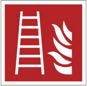 Znak drabina pożarowa F03 (FF) 150x150