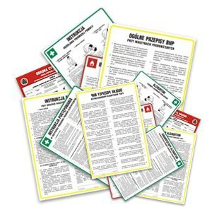 Instrukcja BHP postępowania w przypadku poparzenia kwasem lub ługiem 422-91