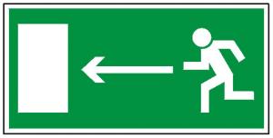 Kierunek do wyjścia drogi ewakuacyjnej w lewo (PF)