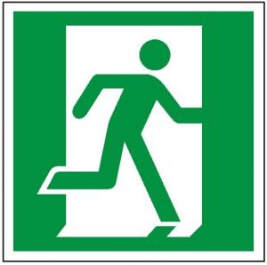 Znak drzwi ewakuacyjne prawe 110 (F.F.)