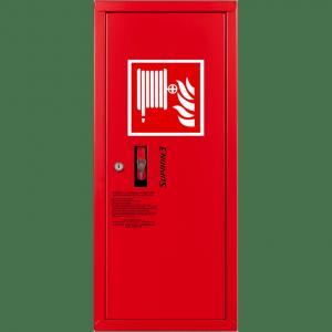 HYDRANT wewnętrzny wykonanie boczne zawieszany  z wężem półsztywnym 25/30m czerwony