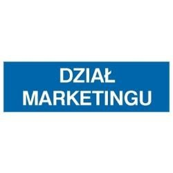 Znak DZIAŁ MARKETINGU 801-26 P.Z.