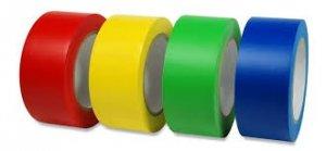 Taśma samoprzylepna niebieska,czerwona,zielona,czarna,biała 33m/5cm