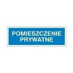 Znak POMIESZCZENIE PRYWATNE 801-90 F.Z.