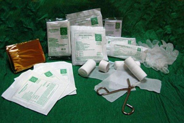 Wyposażenie apteczki pierwszej pomocy DIN 13164