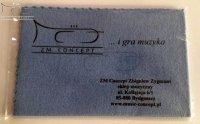 ZMC chusteczka do polerowania instrumentów muzycznych srebrnych 18x28 cm z nadrukiem