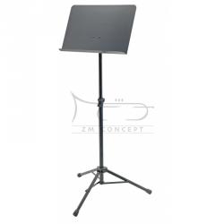 K&M 11960 pulpit orkiestrowy składny, czarny, pełen blat