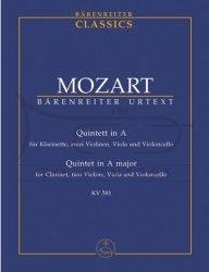 Mozart Wolfgang  Amadeus: Quintett in A  KV 581: kwintet klarnetowy: mała partytura studencka