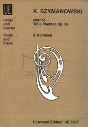 Szymanowski, Karol: Mythes op. 30,2,  fuer violone und klavier: Narcisse