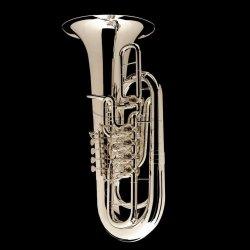 WESSEX tuba F TF435PS Berg posrebrzana, wentyle obrotowe, z futerałem
