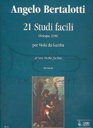 Bertalotti, Angelo : 21 studi facili : per viol da gamba