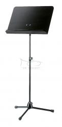K&M 11812 (118/1) pulpit do nut KM, statyw metalowy czarny, płyta pełna drewno czarna