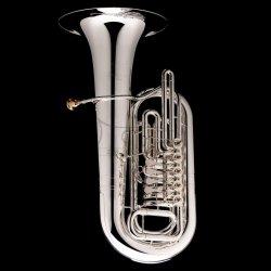 WESSEX tuba Eb TE495SDanube posrebrzana, wentyle obrotowe, z futerałem