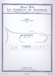 Bach Jan Sebastian: Sonata E dur nr 6 BWV1035 na saksofon altowy i fortepian (w oryginale na flet i fortepian) (Les Classiques du Saxophone)