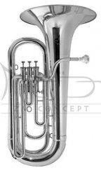 BESSON tuba Eb Sovereign 981-2-0 posrebrzana, 4 wentyle tłokowe (3+1), kompensacyjna, z futerałem