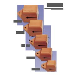 STUDIO49 Concert temple block, model TE10, 10cm, ręcznie produkowane