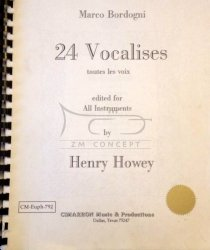 Bordogni M.: 24 Vocalises toutes les voxedited for All Instruments by Henry Howey, zawiera płytę CD