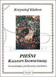TRIANGIEL Klabon Krzysztof, Pieśni Kalliopy Słowieńskiej na chór mieszany lub żeński oraz na głos solo z lutnią (gitarą)