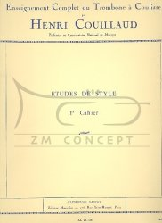 Couillaud Henri: Etudes de Style d'apres Bordogni (z. 1) - Enseignement Complet du Trombone a Coulisse (puzon suwakowy)