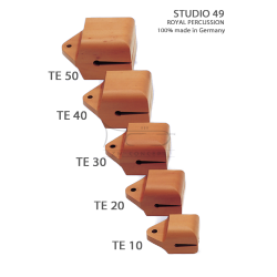 STUDIO49 Concert temple block, model TE20, 12cm, ręcznie produkowane
