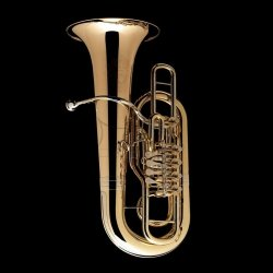 WESSEX tuba F Berg model TF435H-GB lakierowana, 5 wentyli obrotowych, ręcznie wykonana z futerałem