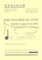 QUANTZ Joachim: Triosonate D-dur, Partytura + głosy