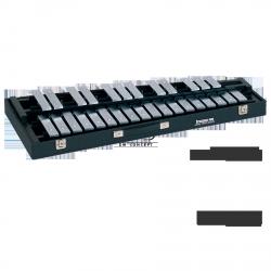 STUDIO49 DZWONKI przenośne, model RGST/K/V/L, płytki brzmieniowe w kolorze srebrnym, z futerałem